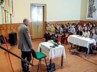 Олександр Вільчинський на cемінарі-практикумі у Скалаті